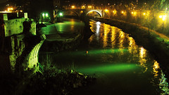 Rome by Night in Green & Yellow