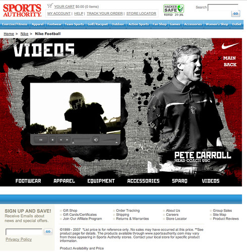 The Sports Authority - Nike Football Microsite