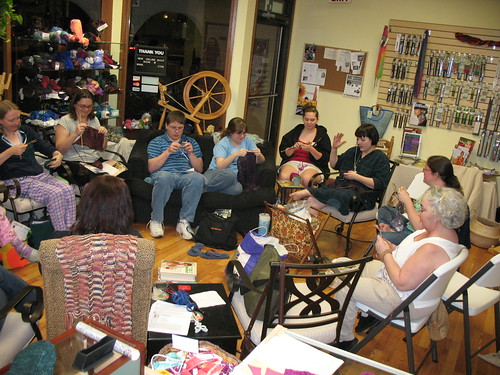 Slumber Party at the yarn shop (2)