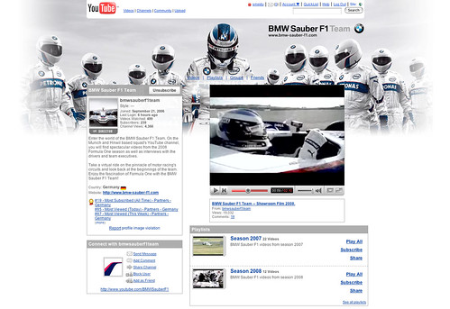 BMW Sauber F1 - YouTube Channel