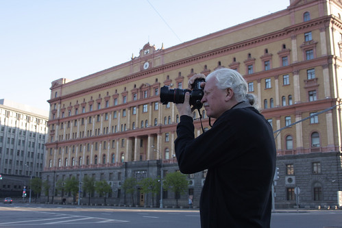 Ron in front of former KGB building