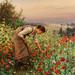 Daniel Ridgway Knight - Girl Picking Poppies
