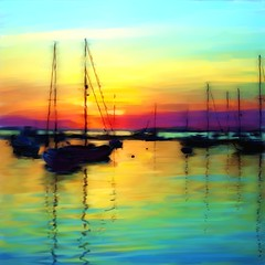 Sunset Over The Harbour (Pat McDonald) Tags: peter lakewentworth roome supershot thebestyellow afpov kunstplatzlinternational peterroome thisisexcellen