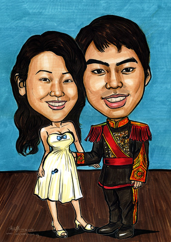 Couple caricatures Goong