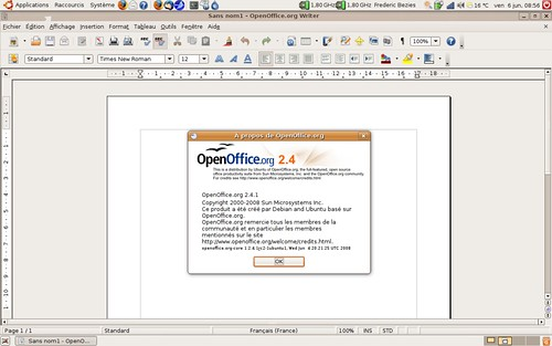OpenOffice 2.4.1rc2 dans Hardy Proposed