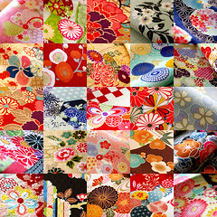 full bloom! (karaku*) Tags: flower color cute texture japan japanese colorful pattern pentax blossom sewing traditional fabric kawaii bloom etsy lovely textiles cloth patchwork scrap japanesepattern k100d