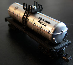 Southern Pacific Tanker Car (Photographs By Wade) Tags: macro toy railcar southernpacific wadefromoklahoma wadeharris