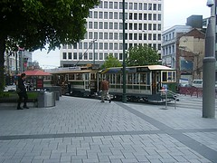Tram with trailer Christchurch (maroochymax) Tags: trams