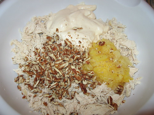 Add Miracle Whip, Crushed Pineapple, Pecan Pieces
