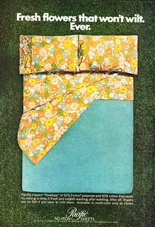 Pacific No Iron Sheets Ad 1969