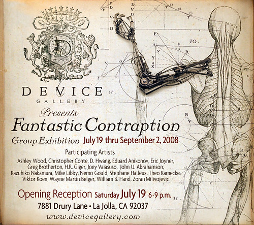 Fantastic Contraption exhibition poster
