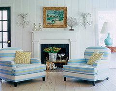 Inspiration: House Beautiful (maliburachel) Tags: inspiration hamptons stripe armchair housebeautiful kellywearstler wearstler