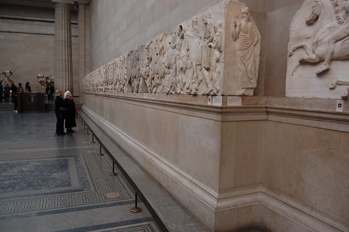 Carved tiles from the Elgin Marbles at the British Museum