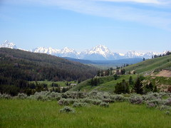 lush valleys (just a spark) Tags: mountains roadtrip valley tetons