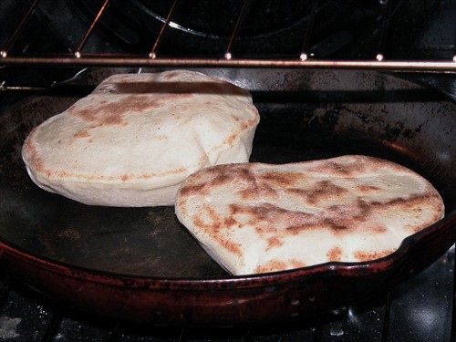 Naan, cooking