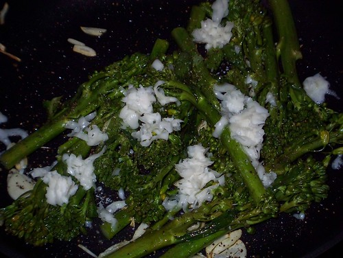 broccolini goat cheese garlic