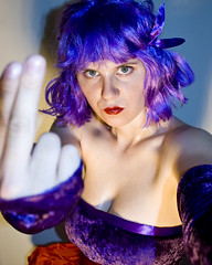 Ayane (evaxebra) Tags: red game nerd stockings costume fight eva purple geek cosplay kick character hardcore gamer wig bow videogame ribbon punch ps2 playstation deadoralive doa ewa redbow doa2 ayane xebra evaxebra deadoralive2hardcore