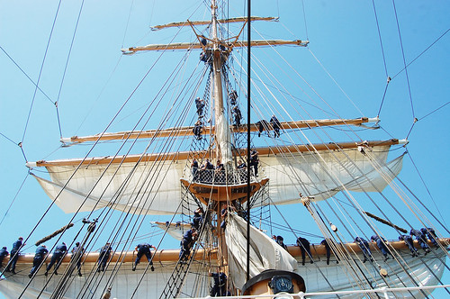 Aboard the Tall Ship USCG Eagle