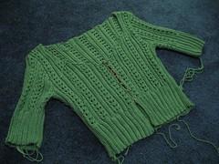 WIP: Shine Green lace cardi