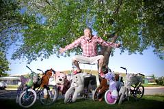 JUMP dad bikes (laurenlemon) Tags: green jump jumping jumpology laurenrandolph laurenlemon