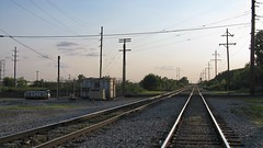 Hawthorne Junction at the Chicago city limits around sunset. Chicago / Cicero Illinois. June 2008.