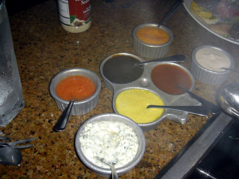 Variety of sauces