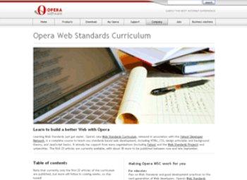 opera web standards project