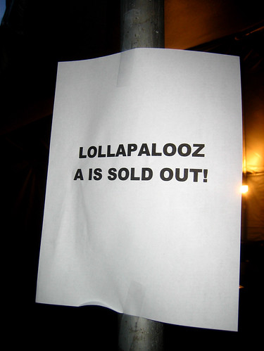 Lolla Sold OUt