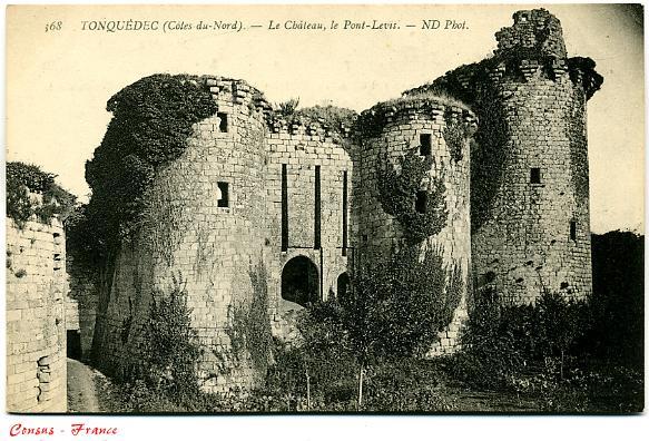 TONQUEDEC - Le Château, Le Pont-Levis (Côtes-du-Nord)
