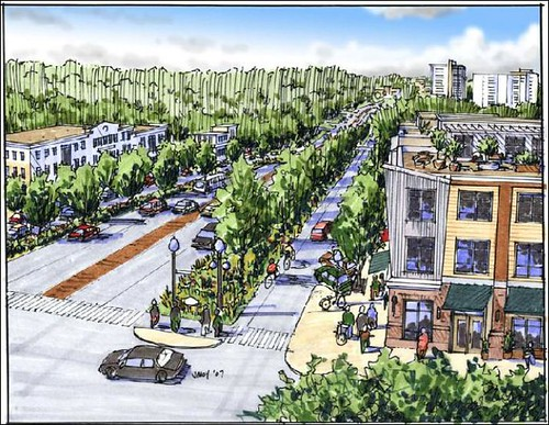 Takoma Park Charrette: New Hampshire Ave at Sheridan Street