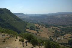 From a distance (andyaldridge) Tags: bridge sky cloud holiday france adam hazel day5 millau roadbridge vaiduct france2008