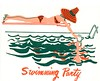 Swimming Party (sparkleneely) Tags: party swimming vintage invitation