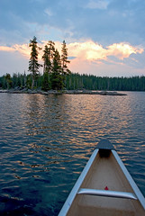 Canoe Bow (Zack Mensinger) Tags: camping lake water oregon waves canoe nationalforest canon10d 2008 waldolake willamettenationalforest naturalareas lakesurface