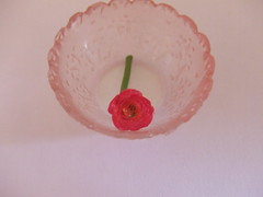 'Glass' bowl from Re-ment Pure Flowers (pReetyStufF) Tags: red rose miniatures rement pinkbowl pureflowers