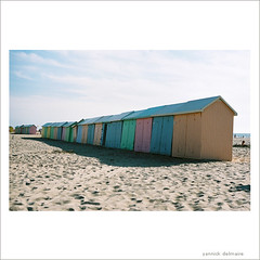 rainbox (Yannick Delmaire) Tags: summer france film beach colors catchycolors sand cabin analogue nord berck yannick thecolor delmaire yannickdelmaire