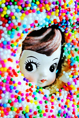 Don Nut (boopsie.daisy) Tags: boy cute dessert yummy colorful peekaboo donald sprinkles donut don treat jimmies