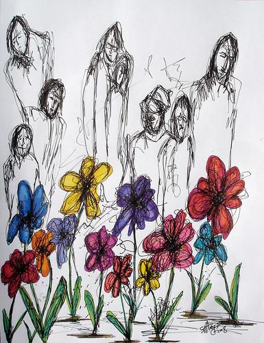 Summer Street Flowers