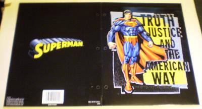 Exterior of my first Superman folder from 2006