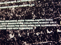 Harper's credit in the Metallica booklet