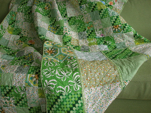 My green quilt (reverse