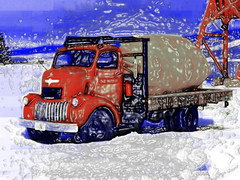coe gmc spud drive-n - 04 (Da Pigsta) Tags: wallpaper ford chevrolet truck international dodge coe cabover photoshoppedimages