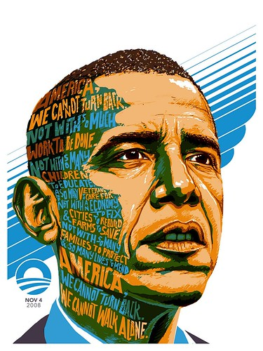 Obama print by myself for Upper Playground