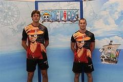 081002 - 『航海王』魯夫的大頭照,正式登上義大利國家排球聯隊Pallavolo Modena的「自由球員」最新球季的球衣圖案