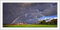 Summing up our Summer? (flickrzak) Tags: summer sky cloud wet rainbow grim lancashire explore lancaster upnorth doublerainbow abandonedfactory anawesomeshot