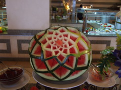 Nicely carved melon