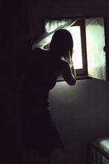 Widow.- 2008 (RolanGonzalez) Tags: window girl ventana chica surreal tenebroso tiniebla