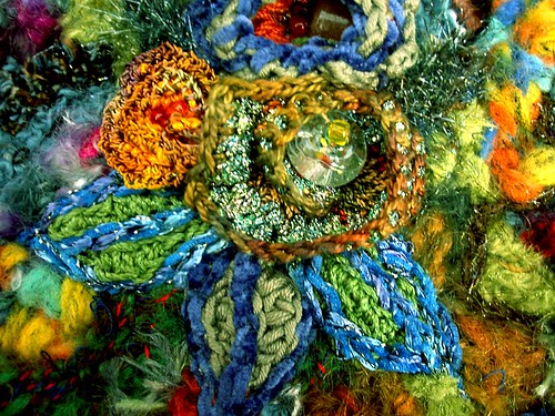 freeform crochet flower