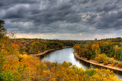 Mississippi River (TylerIngram) Tags: autumn fall minnesota mississippi landscape stpaul minneapolis hdr fortsnelling 3xp tyleringramdotcom