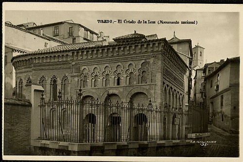 Mezquita del Cristo de la Luz (Toledo), a principios de siglo. Foto en 1933 de Margara