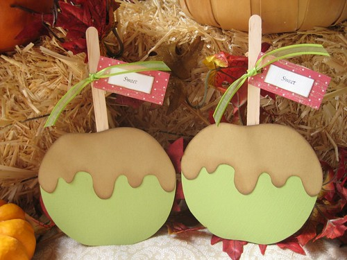 Caramel Apple Cards